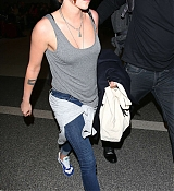 Kristen Stewart Arrives at LAX Airport - February 18