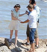 Kristen Stewart Films Scenes with Jesse Eisenberg for Untitled Woody Allen Project Set Photos